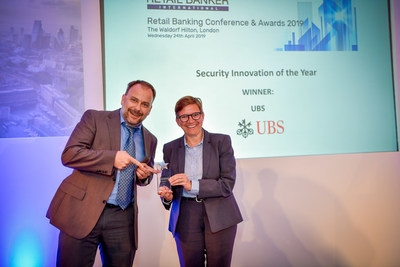 Marcel Drescher and Manuela Spillman of UBS Card Center won the Security Innovation Award at the Retail Banking Awards for their use of FICO technology to prevent fraud.