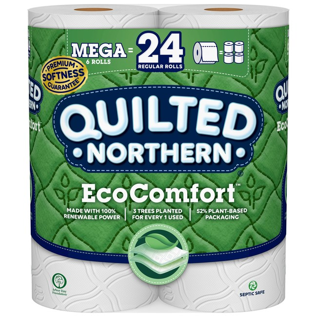 Georgia-Pacific recently announced a new addition to the Quilted Northern® product line – Quilted Northern® EcoComfort™ toilet paper, designed for today's environmentally-conscious shoppers who want eco-friendly products, without sacrificing comfort or quality.