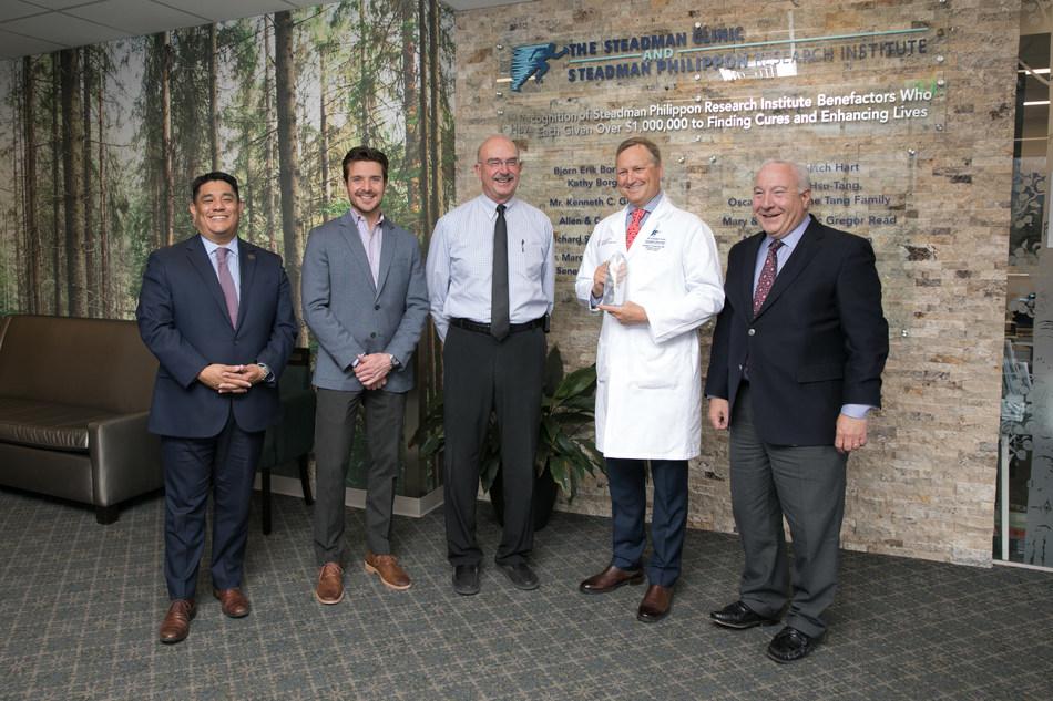 AlloSource awards Dr. Matthew Provencher with its third annual Dr. Steven Gitelis Inspiration Award