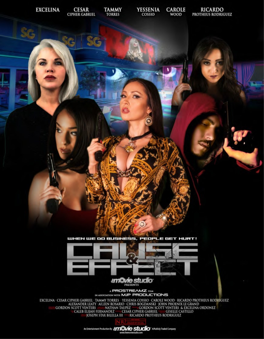 "The Movie Studio Poster on film ""Cause and Effect."" Photo Credit: Courtesy of TransMedia Group"