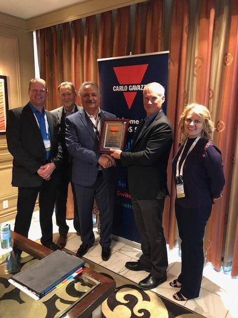 Carlo Gavazzi Presents Digi-Key with Outstanding Distributor Achievement Award, 2019