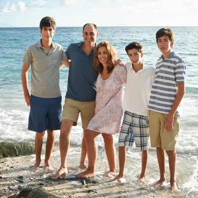 Lisa Lori with her husband, Mat Lori and three sons.