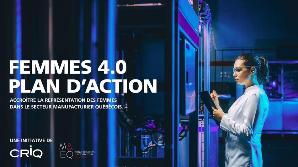 Plan d'action FEMMES 4.0 - 2019-2024 (Groupe CNW/Centre de recherche industrielle du Québec)