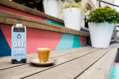 Califia's Oat Barista Blend is made with North American whole rolled, gluten free oats. It is also completely unsweetened and has no gums or stabilizers. Creamy and rich, it tastes delicious by itself, steams amazingly with no splitting, and can easily create beloved latte art.