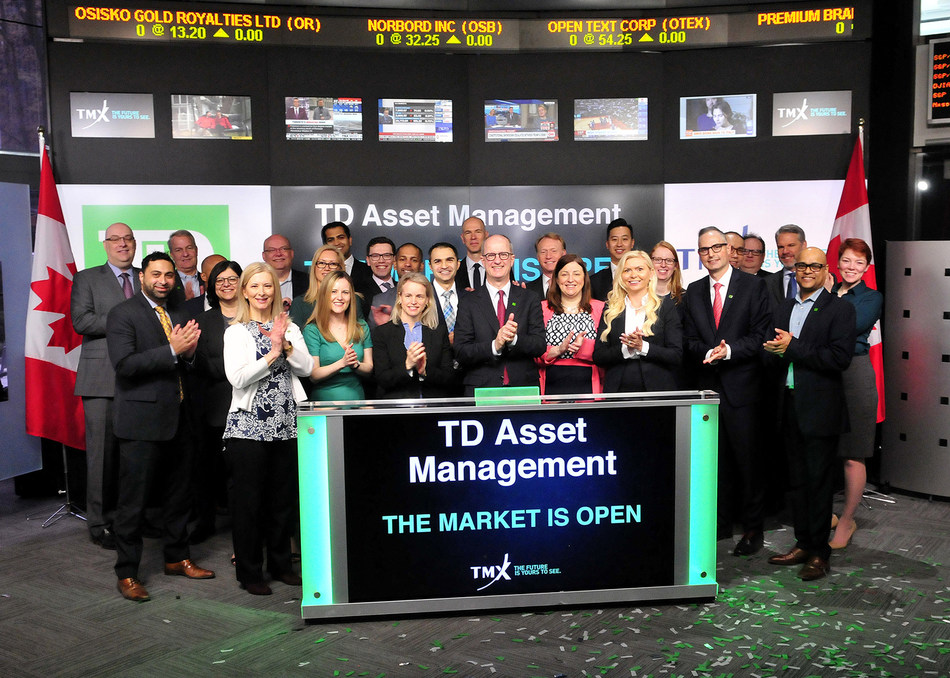 TD Asset Management Inc. Opens the Market (CNW Group/TMX Group Limited)
