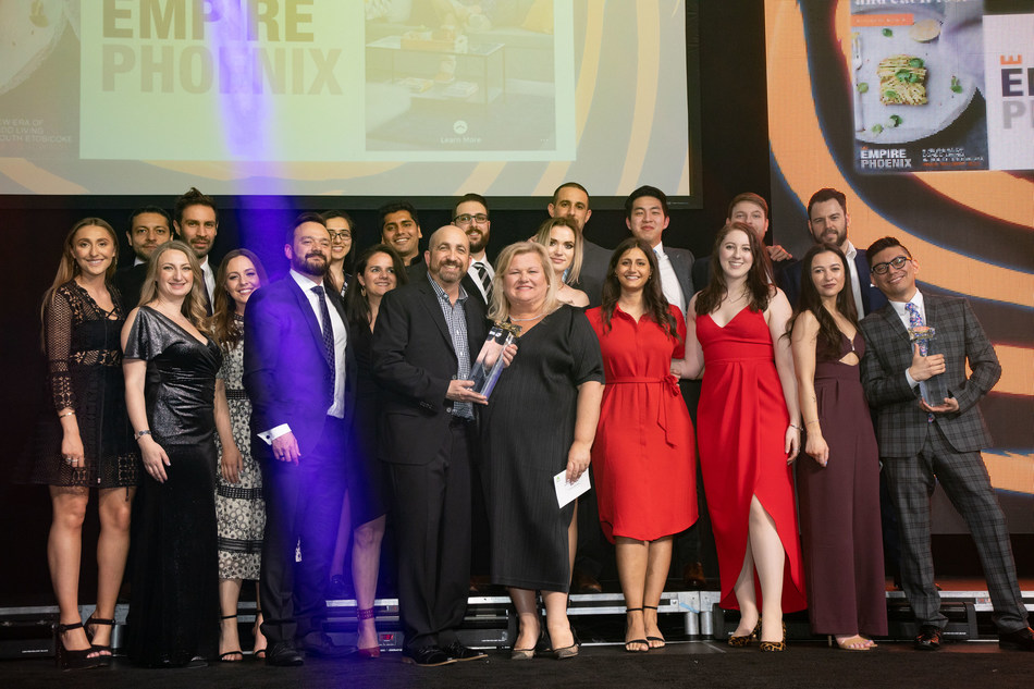 Empire Communities Accepting 1/3 Awards at the 39th BILD Awards on May 3, 2019. (CNW Group/Empire Communities)