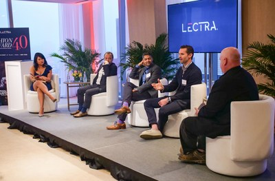 From left: Elizabeth Segran (Fast Company), Edouard Macquin (Lectra), Akash Pathak (Trunk Club), Seph Skerritt (Proper Cloth) and Arthur Zaczkiewicz (Women's Wear Daily) discuss the on-demand future of the fashion industry.
