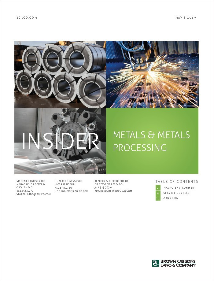 Mergers and acquisitions activity is rising as U.S. service centers respond to volatile market conditions, according to the Metals Insider, an industry report released by Brown Gibbons Lang & Company.