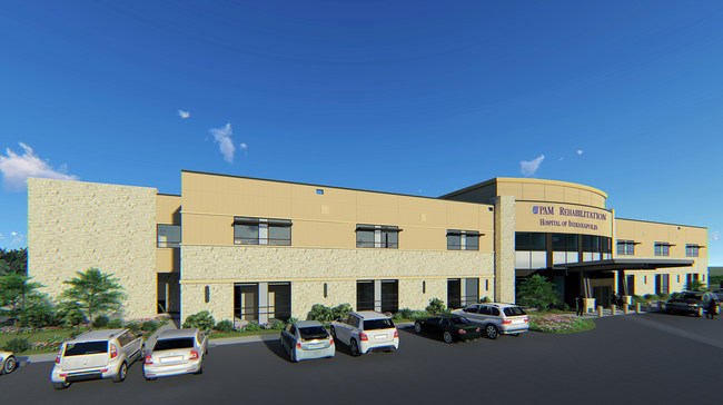 Rendering of PAM Rehabilitation Hospital of Indianapolis courtesy of E4H Architecture
