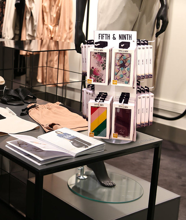 Boost Your Bottom Line with Fifth & Ninth Turnkey Displays Loaded with Sophisticated iPhone Cases, Portable Chargers, Genuine Leather Apple-Licensed Cables and Tempered Glass Screen Protectors with Mirror Finish