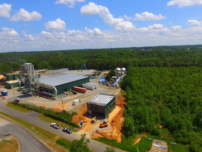 Profile Products' new wood fiber processing plant in Conover, North Carolina.