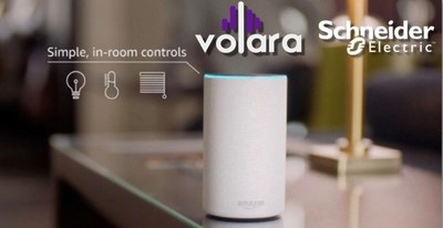 Volara and Schneider Electric Bring Smart Room Controls on Voice Command to Hotels (CNW Group/Schneider Electric Canada Inc.)