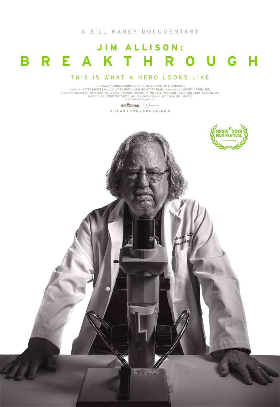Jim Allison: Breakthrough documentary film poster