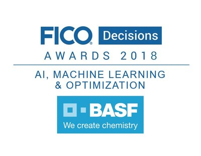 BASF won the FICO Decisions Award for optimizing multiple supply chains with FICO Xpress Insight.