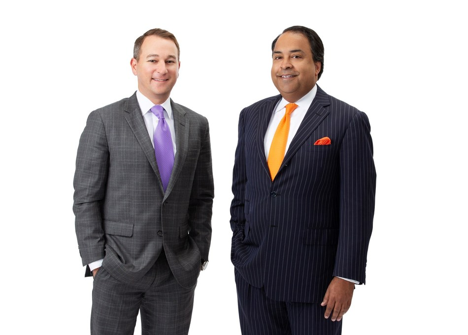 Left Brian Mitchell; Right I. Bobby Majumder; co-managing partners of the Dallas office, Reed Smith