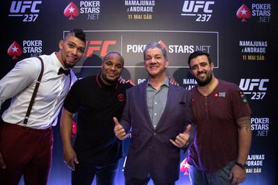 PokerStars announces new ambassadors at UFC® 237: NAMAJUNAS vs. ANDRADE