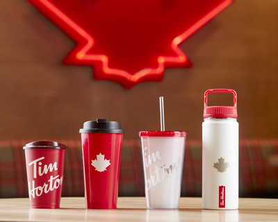 Tim Hortons is introducing new reusable drinkware that will be available for purchase in restaurants starting this summer. (CNW Group/Tim Hortons)