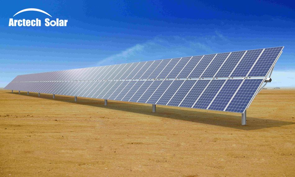 Arctech Launches 120-Module 2P Solar Tracker in Industry First Move (PRNewsfoto/Arctech Solar)