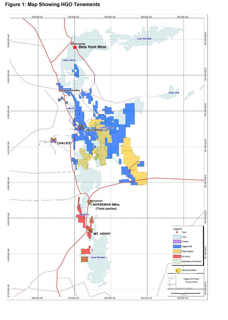 Figure 1: Map Showing HGO Tenements (CNW Group/RNC Minerals)