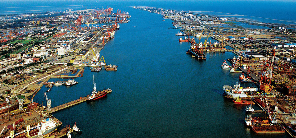 A view of Tianjin's ports