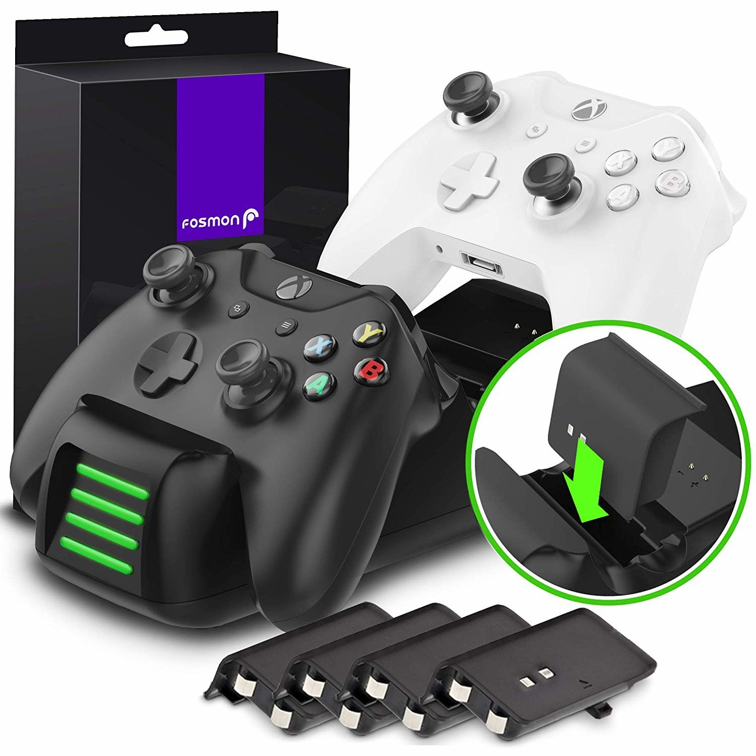 Fosmon's new Quad Pro Charging Station for Xbox One Controllers.