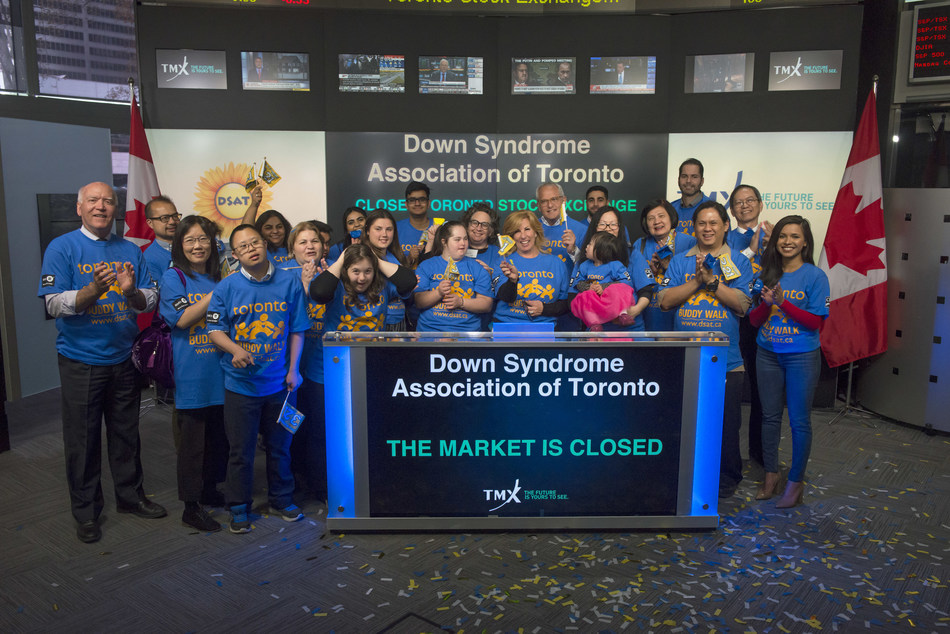 Down Syndrome Association of Toronto Closes the Market (CNW Group/TMX Group Limited)