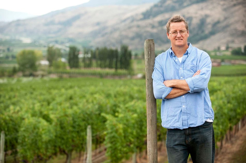 Winemaker Philip McGahan in the vineyard at CheckMate Artisanal Winery in the Okanagan Valley, British Columbia. (CNW Group/CheckMate Artisanal Winery)