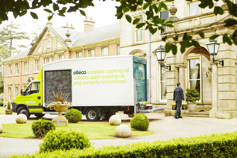 Olleco delivering and collecting cooking oil to one of its hotel customers.