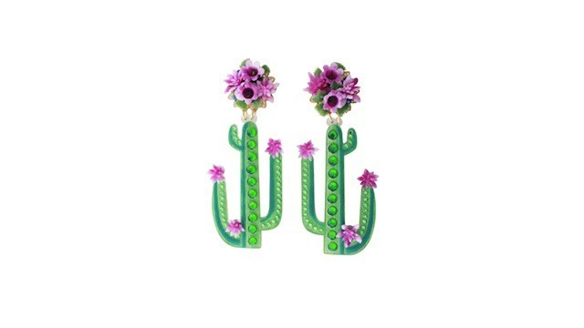 Mercedes Salazar x The Luxury Collection Cactus Mágicos earrings