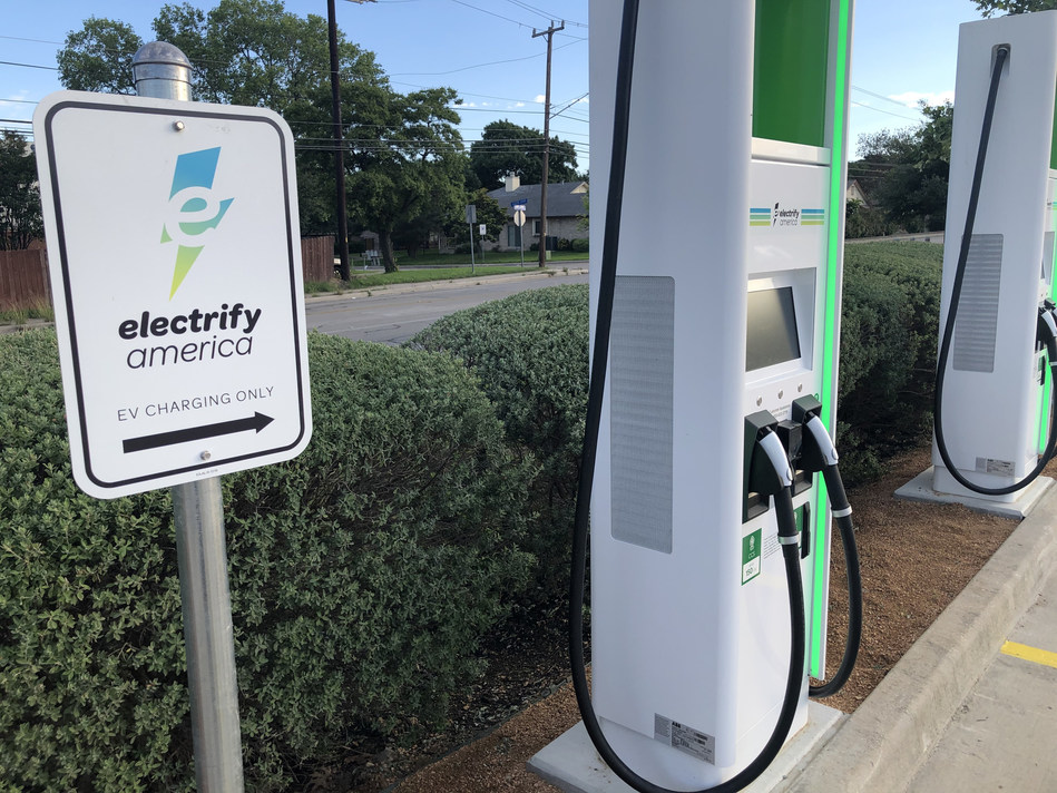 CPS Energy celebrates Electrify America EV Charging Station Opening at North East SA Walmart