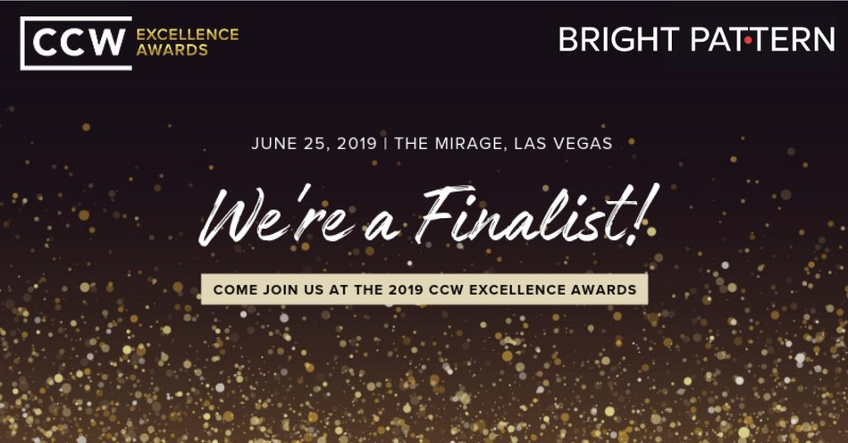 Bright Pattern Selected as Finalist for Omnichannel Provider of the Year for Customer Contact Week (CCW) Excellence Awards