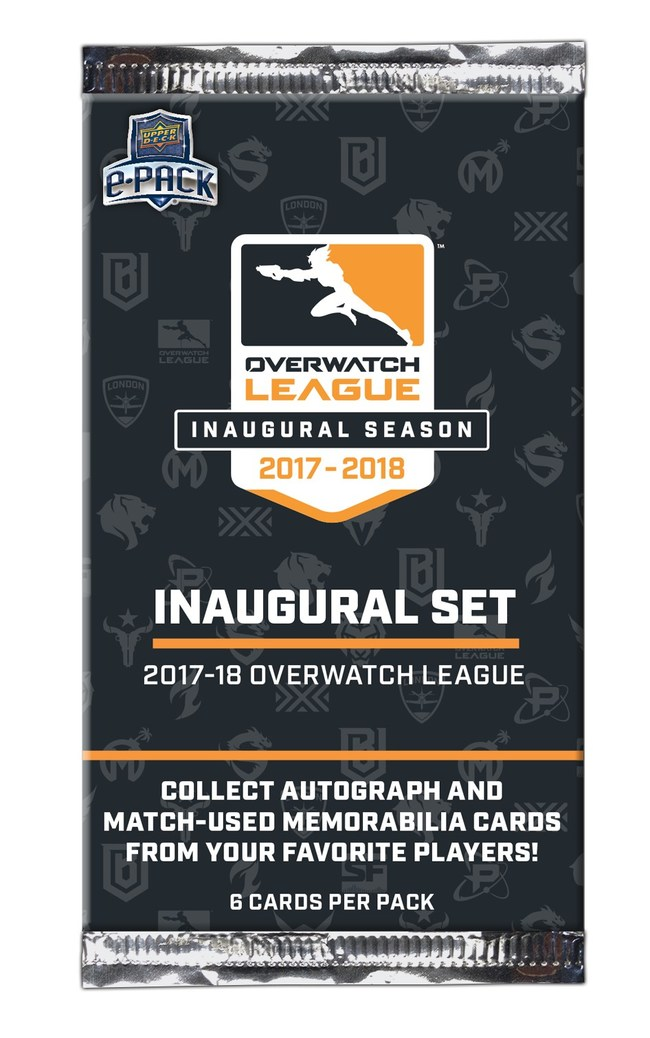 The first Overwatch League-licensed trading card set will release June 19, 2019 on www.UpperDeckEpack.com and will showcase fan-favorite players and teams from the league's inaugural season. Collectors can also earn exclusive avatars, relic shadowbox cards with match-used equipment, autographed jerseys, multi-player booklet cards, and more through e-pack's extensive achievement system.