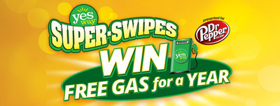 Yesway invites everyone to #SayYesToWinning with Yesway Super-Swipes for a chance to win FREE Gas for a YEAR, or one of thousands of other Free-for-a-Year and Instant Prizes, presented by Dr Pepper!