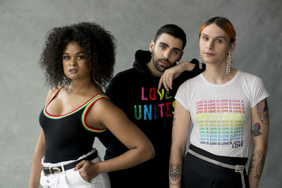Out Magazine staffers Raquel Willis, Phillip Picardi and Coco Romack in the Express Love Unites campaign