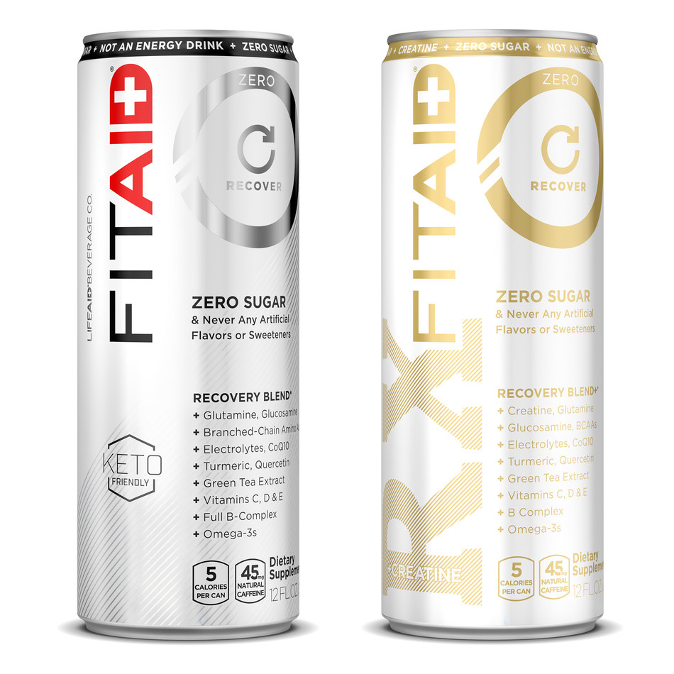 FITAID ZERO and FITAID RX ZERO offer the nutrients and recovery function of FITAID, with zero sugar and no artificial sweeteners