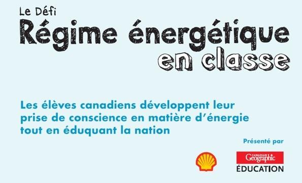 Logo : Le Défi Régime énergétique en classe (Groupe CNW/Société géographique royale du Canada)