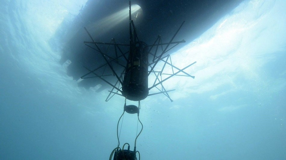 Helicopter Long Range Active Sonar (HELRAS) dipping sonar onboard Seagull™ multi-mission surface vessel