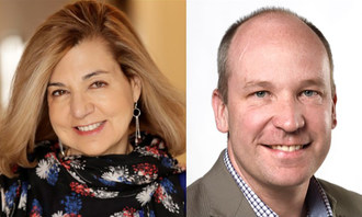 Margaret Sullivan, media columnist for The Washington Post, will be in conversation with David Walmsley, editor-in-chief of The Globe and Mail, at The Canadian Journalism Foundation's J-Talk in Toronto on May 28. (CNW Group/Canadian Journalism Foundation)