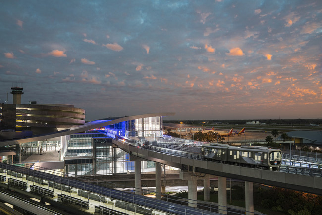 Tampa International Airport's (TPA) SkyConnect Automated People Mover and Consolidated Rental Car Center, winner of an ACEC National Honor Award for Engineering Excellence