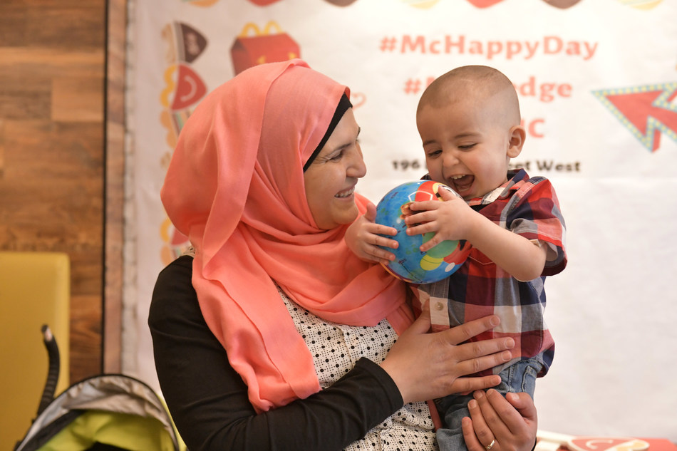 On May 8th, McDonald's Canada celebrated the 26th McHappy Day, raising $6.6 million for Ronald McDonald House Charities and local children's charities across Canada. The Saleh family (pictured) is one of many families who have stayed at a Ronald McDonald House while their child receives treatment in a nearby hospital. (CNW Group/McDonald's Canada)