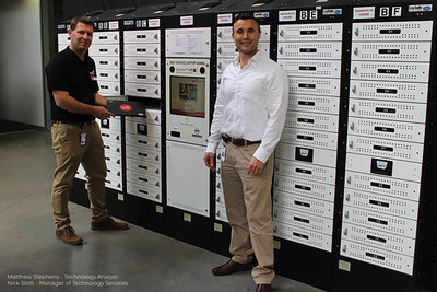 TAFE SA showcasing their self-service laptop loan lockers