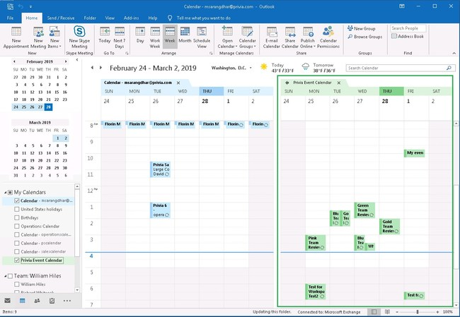 Improve team engagement with Privia's Workspace Web Calendar!