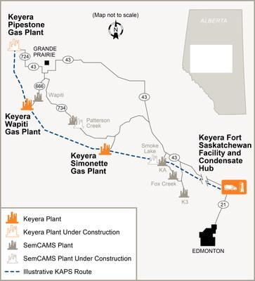 KAPS Illustrative Route (CNW Group/Keyera Corp.)