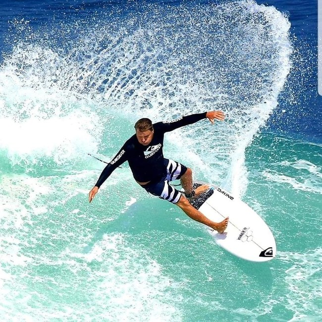 Professional surfer and instructor Ryan Ragan offers surf lessons at The Shores Resort & Spa in Daytona Beach, FL