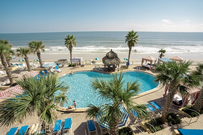 The Shores Resort & Spa, located on Daytona Beach, offers a hotel stay with surf lessons.