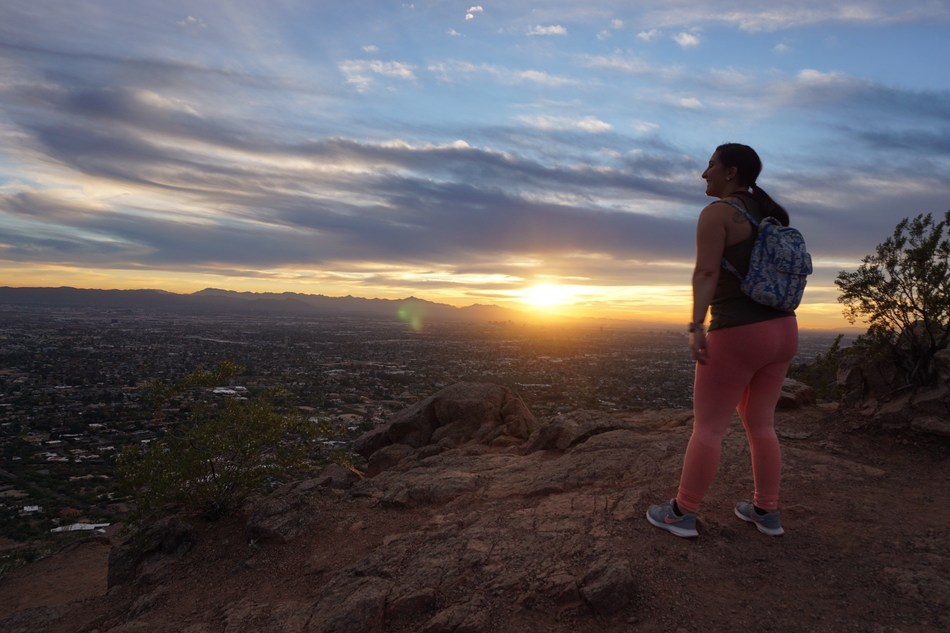 Alyssa Coffey, hiking in Phoenix, Arizona, reflected on overcoming her battling with radiation necrosis.