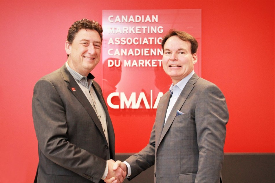 John Wiltshire, President and CEO of the CMA and Alan Depencier, Chief Marketing Officer, Personal and Commercial Banking and Insurance at RBC (CNW Group/Canadian Marketing Association)