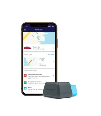 Automatic transforms most vehicles into connected vehicles through a sleek, install-it-yourself adapter and mobile app.