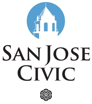 The San Jose Civic rebranding keeps the iconic blue color accent but returns to the minimal silhouette of the Civic tower and spire, as in its original logo.