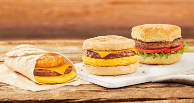 Tim Hortons正在测试三种100%植物的早餐三明治选项,包括超越肉类早餐三明治,超越肉类早餐包裹和超越肉类素食主义者三明治。(CNW集团/蒂姆霍顿)